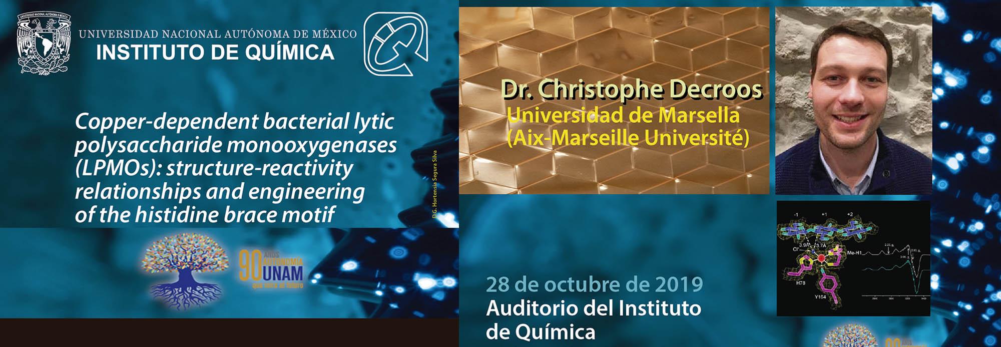 Conferencia próximo 28 de octubre a las 11:00 h, en el auditorio del IQ. Organiza: Dr. Ivan Castillo, ver cartel...